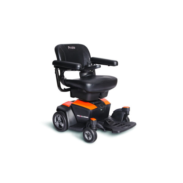 Pride Go-Chair in amber orange right view