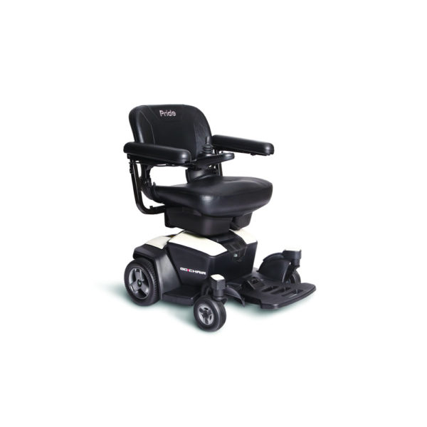 Go-Chair power chair in pearl white right view