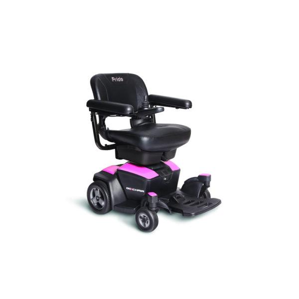 Pride Go-Chair power chair in rose quartz right view