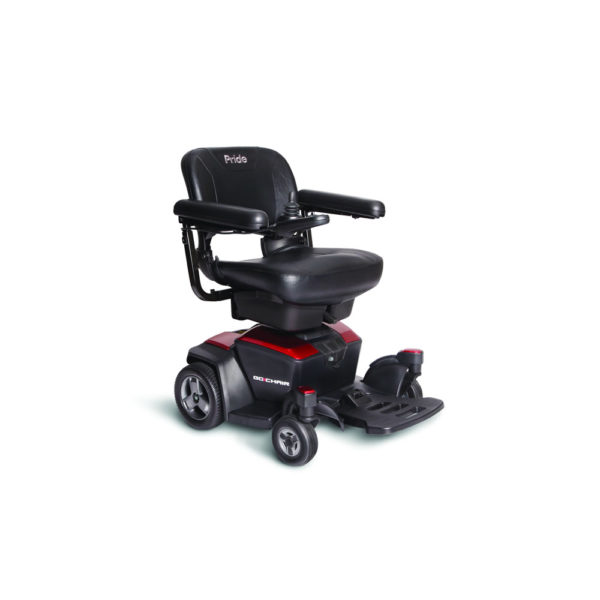 Pride Go Chair power chair in ruby red