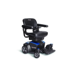 Pride Go-Chair power chair in sapphire blue right view