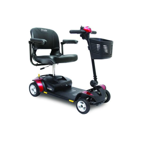 Pride Go-Go Elite Traveller 4-wheel in red
