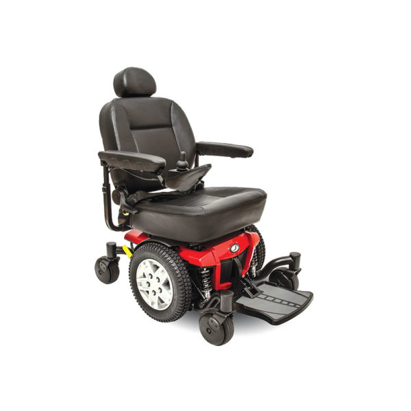 Jazzy 600 ES power chair in cardinal red