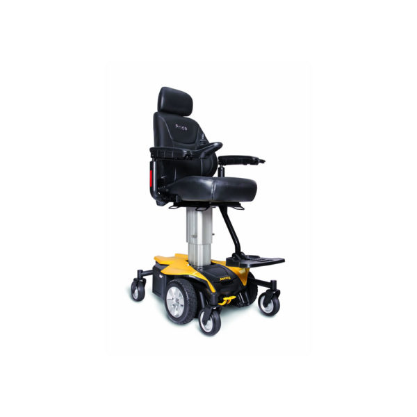 Jazzy Air power chair in citrine yellow right view