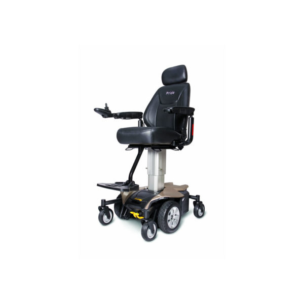 Jazzy Air power chair in gold left view