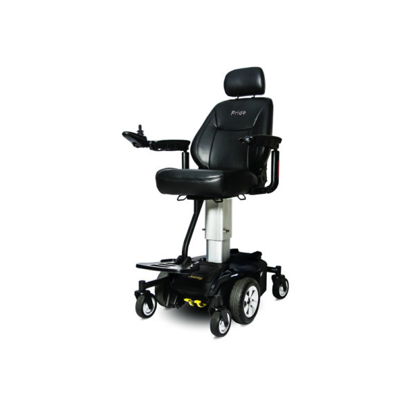 Jazzy Air power chair in black left view