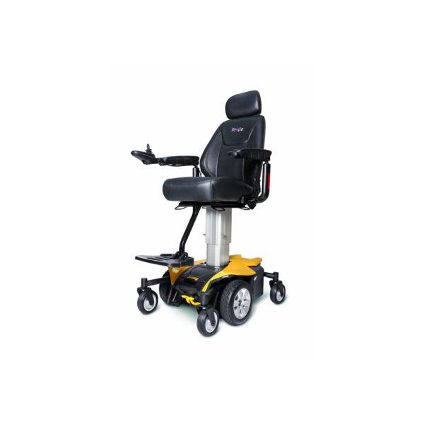Jazzy Air power chair in amber orange