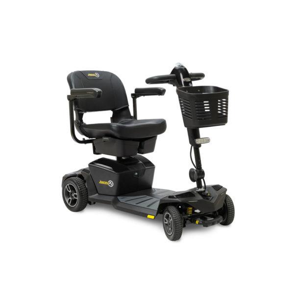 Pride Jazzy Zero Turn 4-wheel scooter in onyx black right view