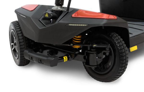 Pride Jazzy Turn scooter turn radius closeup