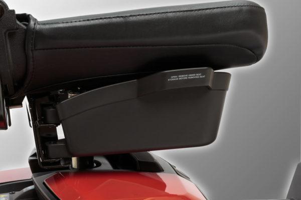 Jazzy Zero Turn scooter under the seat storage