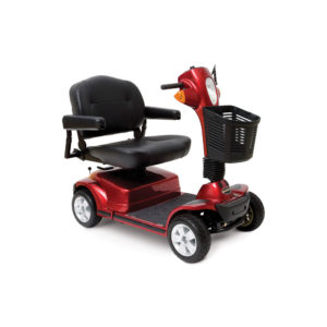 Pride Maxima 4-wheel scooter in candy apple red