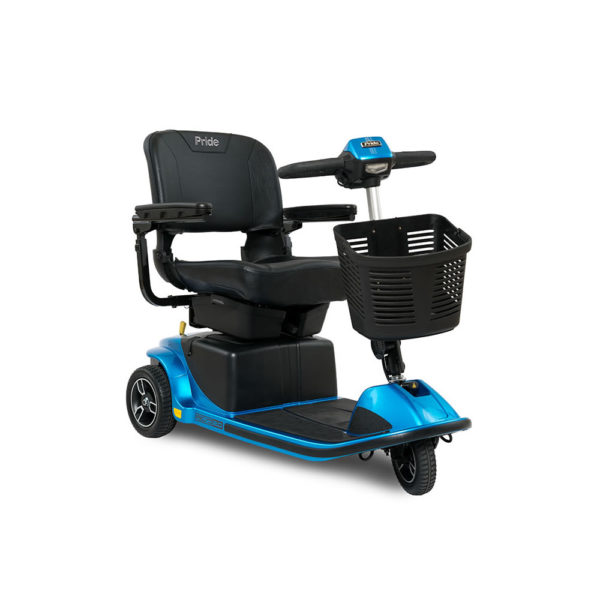 Pride Revo 2.0 3-wheel scooter in true blue right view