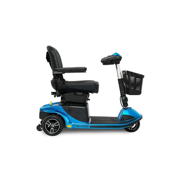 Pride Revo 2.0 4-wheel scooter in true blue right view
