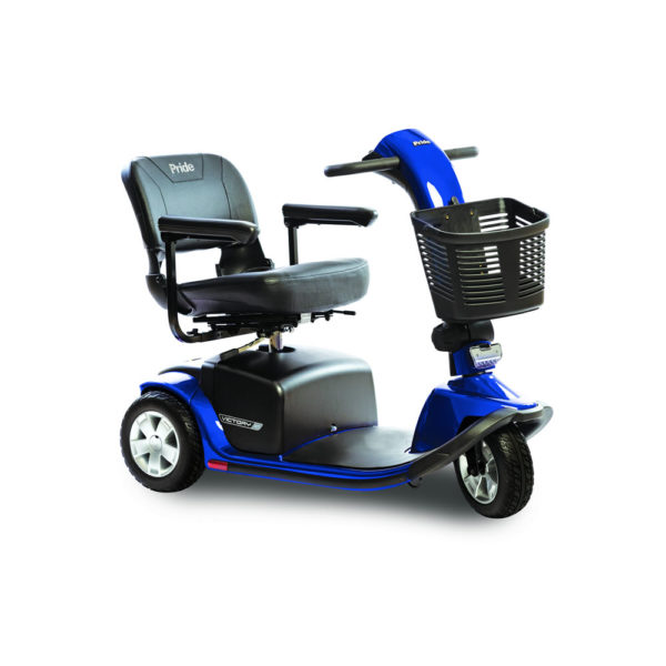 Pride Victory 10 3-wheel scooter in viper blue right view