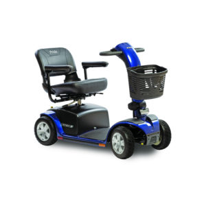 Pride Victory 10 4-wheel scooter in viper blue right view