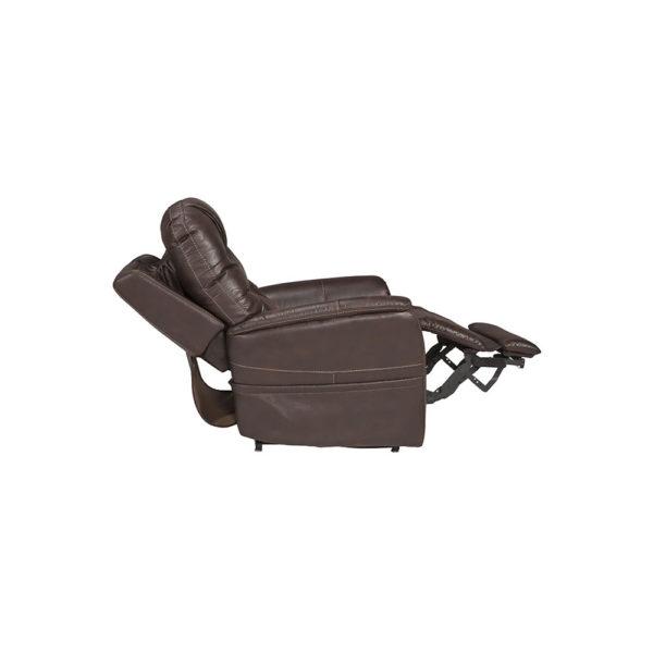 Pride VivaLift Elegance lift chair in badlands walnut reclined