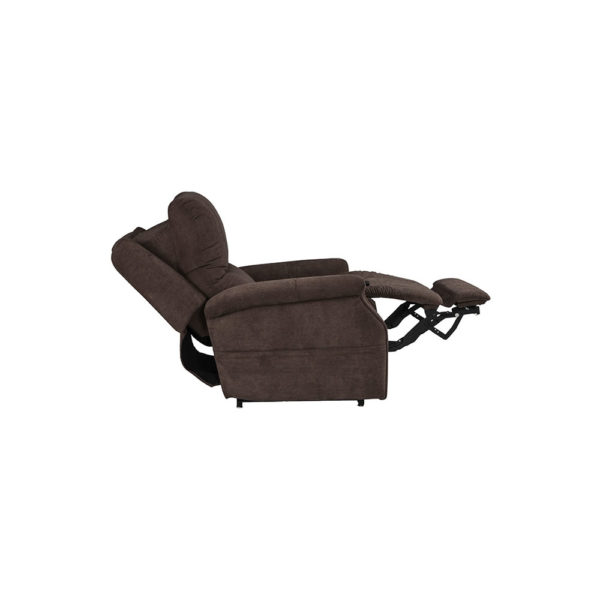 Pride VivaLift Metro lift chair in saville brown partially reclined