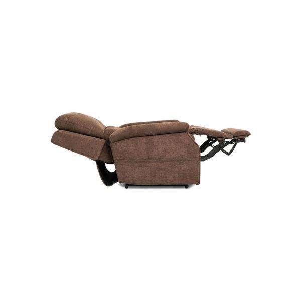 Pride VivaLift Metro lift chair in saville brown reclined