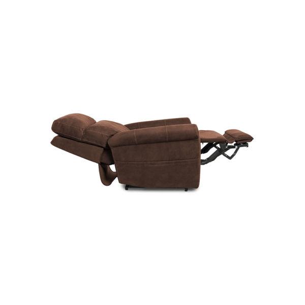 Pride VivaLift Urbana lift chair in stonewash granite reclined