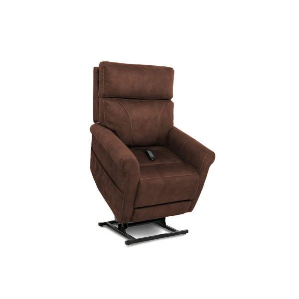 Pride VivaLift lift chair in stonewash granite raised up